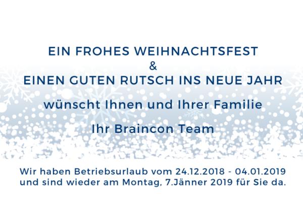 Frohe Weihnachten und ein erfolgreiches Neues Jahr 2019